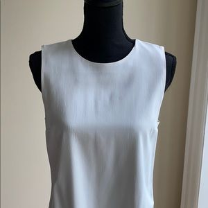 Theory white top with high / low hem detail